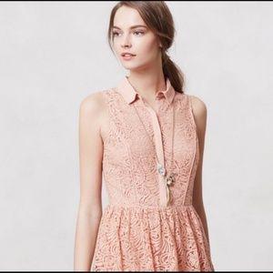 ANTHROPOLOGIE The Addison Story Lace dress M EUC